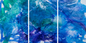 "A Perfect Spring  - Triptych, ea. panel 48"" x 30"""